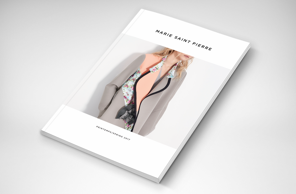 Maison Marie Saint Pierre collection lookbook design creation brochure réalisation crée graphisme