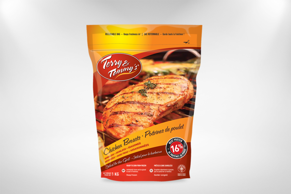 Sunchef emballage design creation cree sac terry & tommy's poulet chicken bag packaging