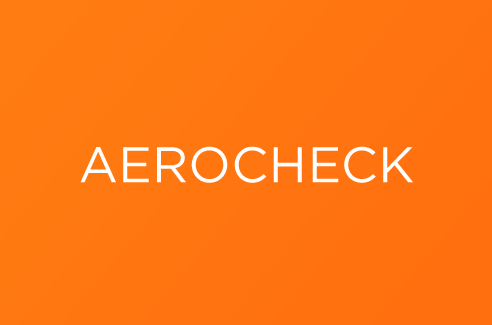 Aerocheck nom name creation design agence agency crée graphisme