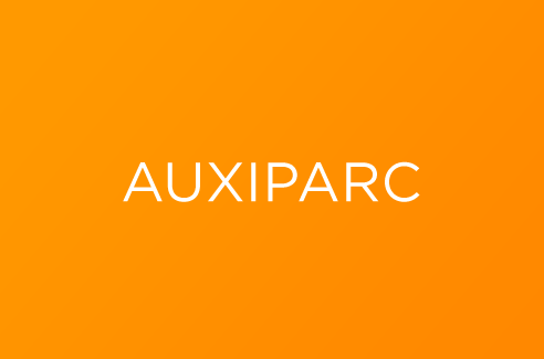 Auxiparc nom name creation design agence agency crée graphisme
