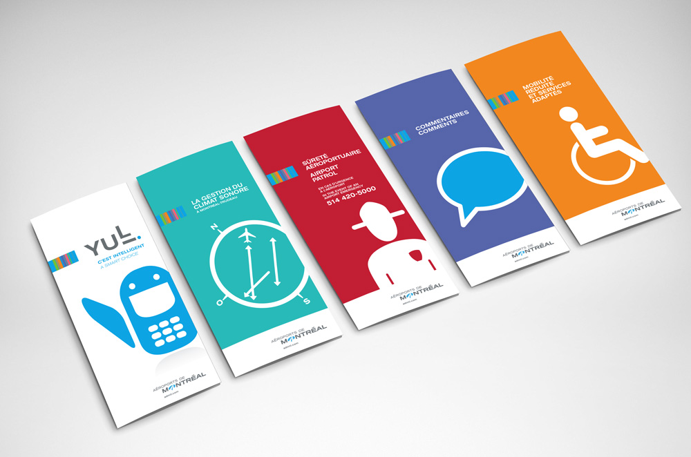 Aéroports Montreal Brochure dépliant design creation made guide agence graphisme