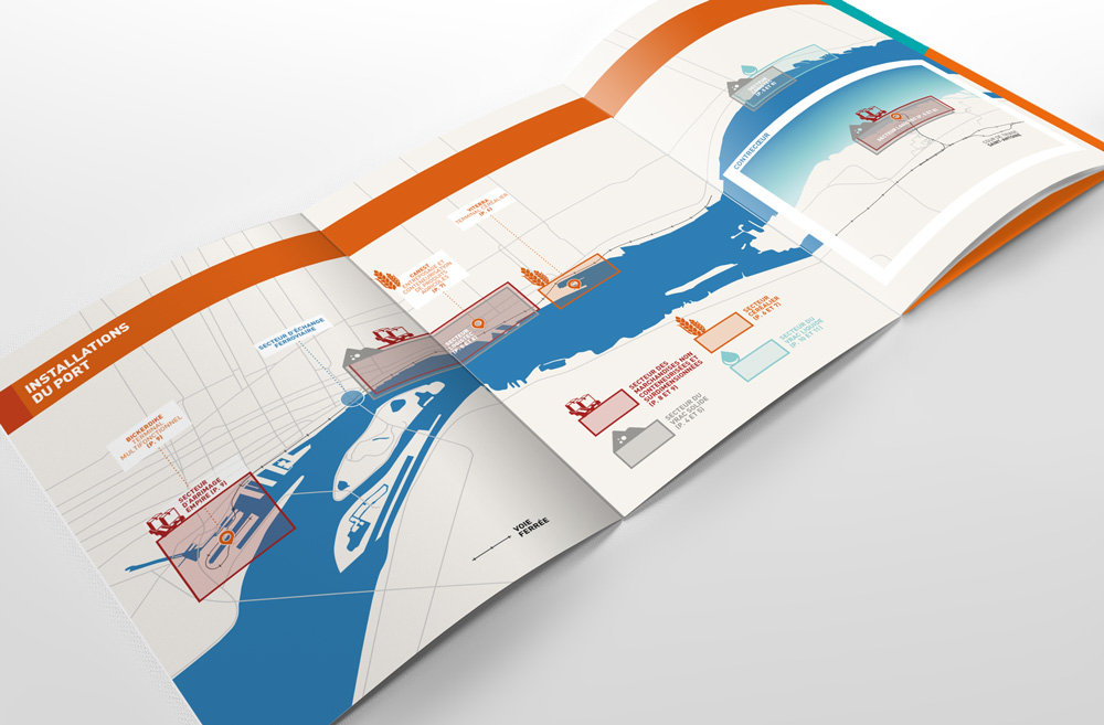 Montreal Port Authority Brochure Administration portuaire Agence creation design dépliant