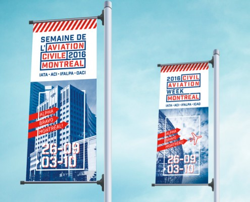 Aéroports de Montréal http://www.admtl.com/en Semaine de l'aviation Civil aviation week banner design corporate communication communication corporative branding strategy stratégie d'image de marque