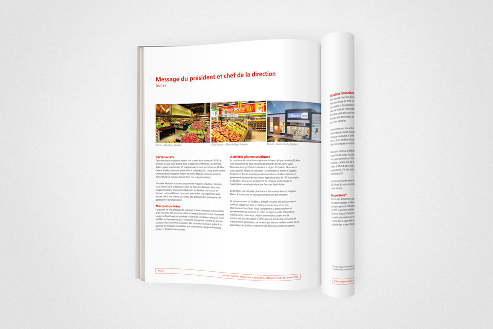 Metro 2016 annual report cabana s guin agence de design for Chambre de securite financiere