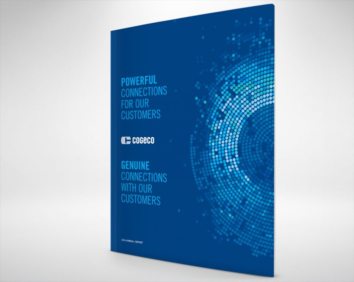 Cogeco rapport annuel annual report 2016 design creation agence agency cree